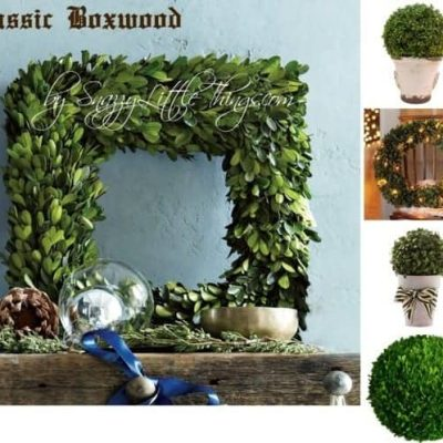 Inspiration File: Boxwoods & Grapevine Garland