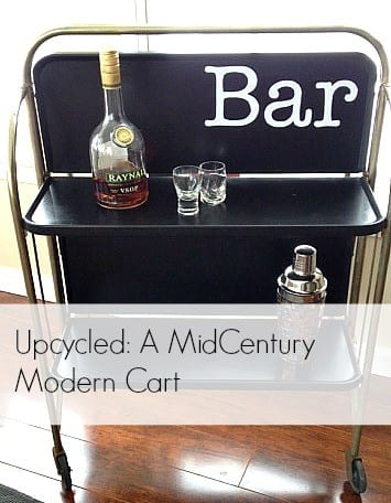 Midcentury Modern Cart Upcycle - by Snazzylittlethings.com