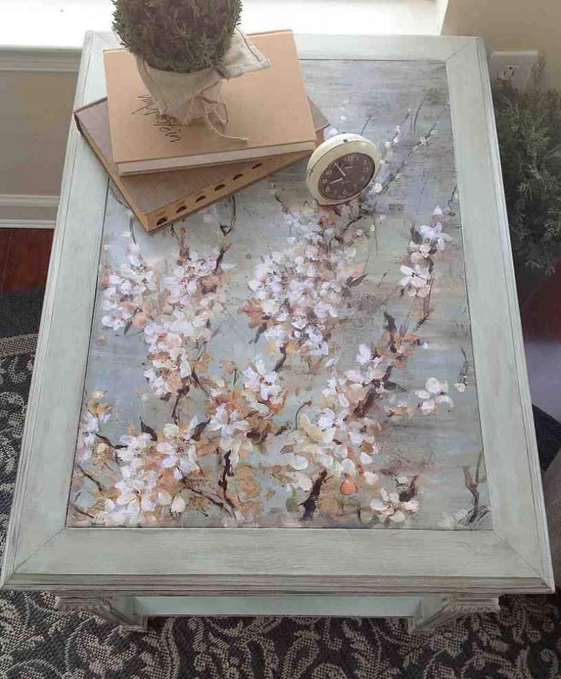 Mod Podge Kitchen Table Upcycled Table With Decoupage Snazzy Little Things