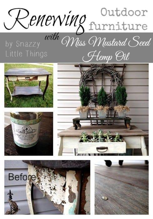 renewing furniture collage