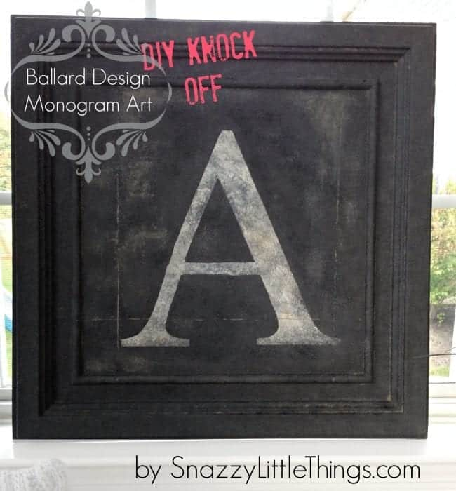 monogram A knockoff cover