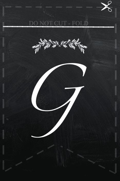 G Free printable Blessings  banner