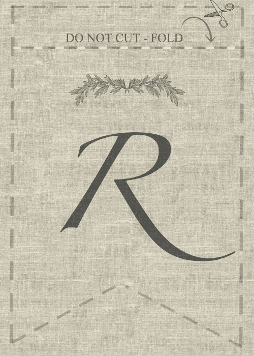 Free Printable R, DIY, decor and crafts
