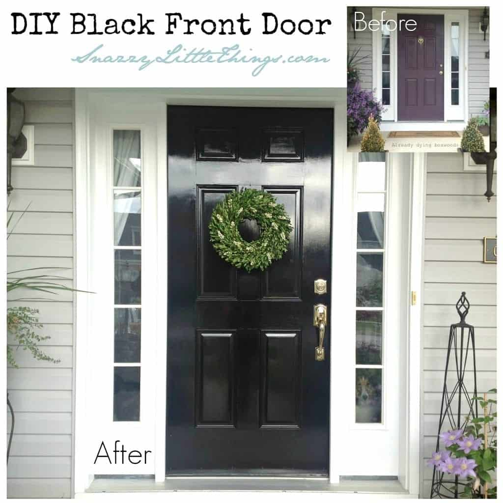 DIY Black Front Door