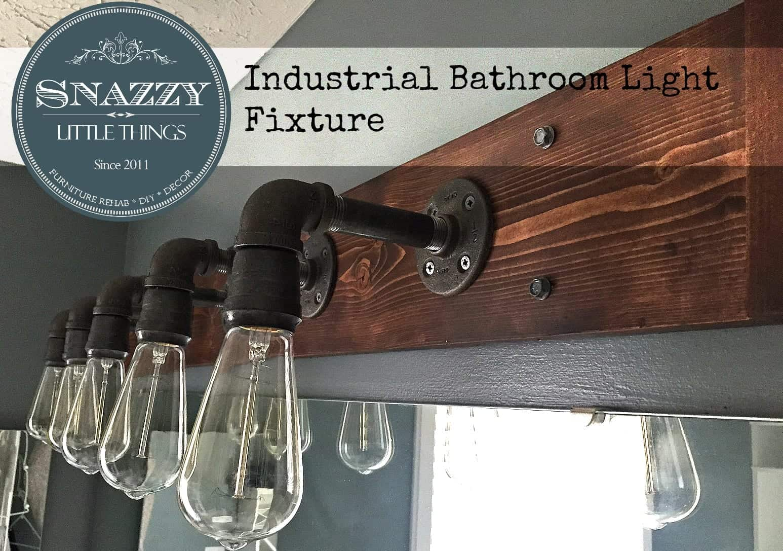 DIY Industrial Bathroom Light Fixture