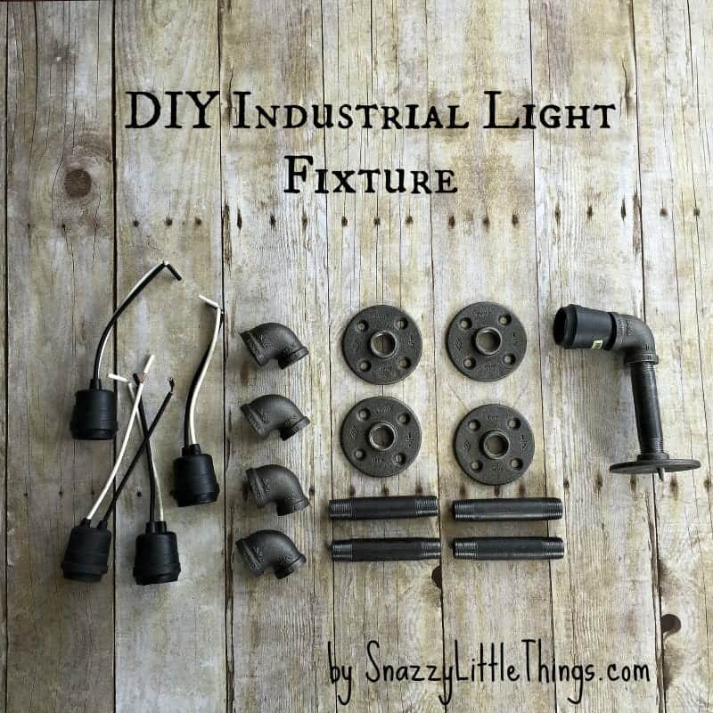 Industrial Light Fixture for Bathrooms: By SnazzyLittleThings.com