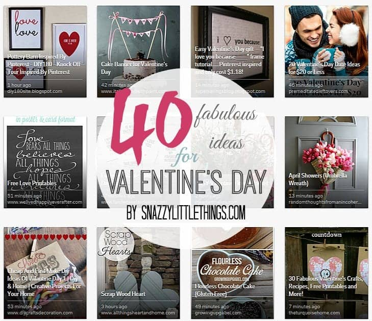 40 Fabulous Ideas for Valentine's Day | by SnazzyLittleThings.com