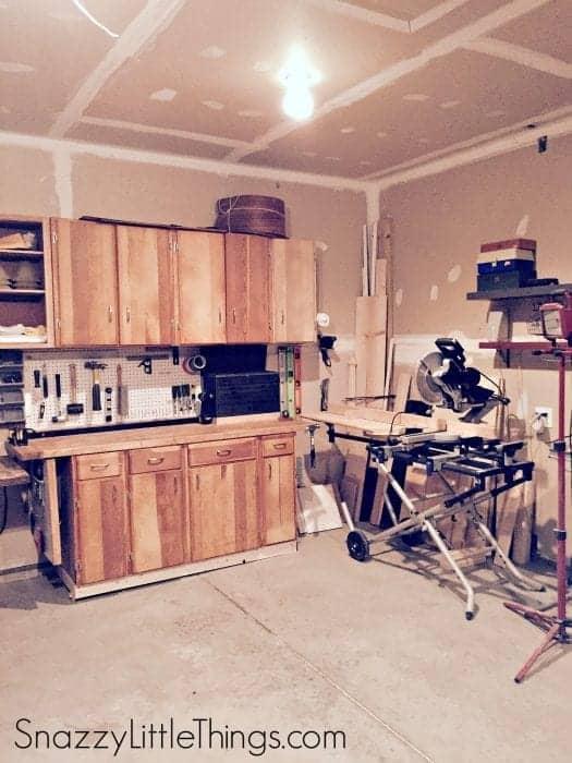Woodshop in Progress   by SnazzyLittleThings.com