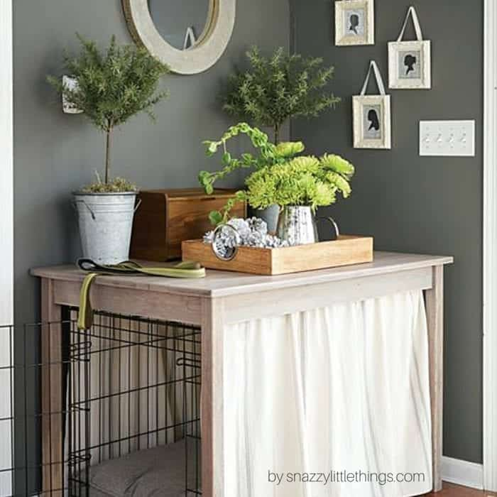 DIY Dog Crate Table With Free Plans