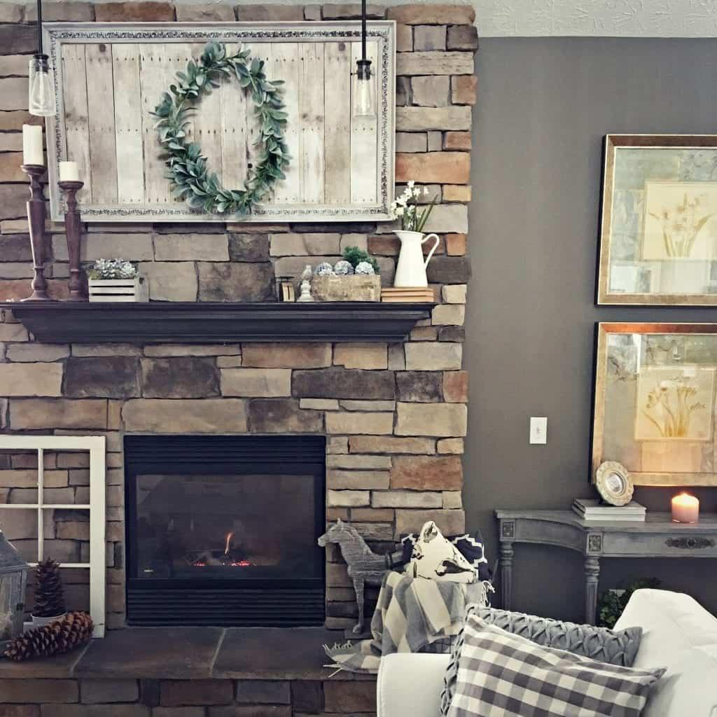 Winter Home Tour 2017 Fireplace Mantel